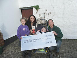The Way family donating to the Ronald McDonald House Bristol