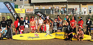 Lifeguards taking part JoeWay Memorial Paddle