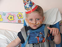 Joe at Treliske Hospital on his 3rd birthday